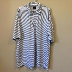Nike Dri-Fit UV Striped Short Sleeve Polo Shirt